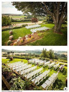 Wedding reception venue at Willamette Valley Vineyards