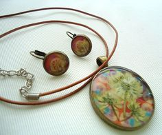 Necklace and Earrings in multicolor pattern by catarinagdesigns, €18,00