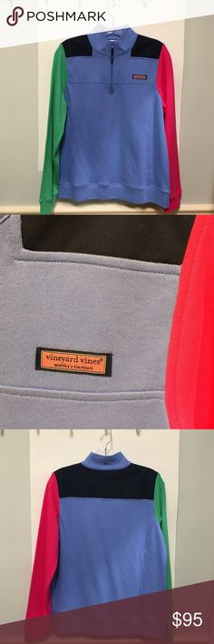 Vineyard Vines Pull-Over This Vineyard Vines pullover is brand new with tags! We love the color scheme and we think you will to! Vineyard Vines Sweaters