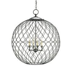 pendant light-this one is different.  I could probably make something similar with chicken wire.