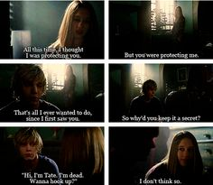 American Horror Story Murder House.Tate Langdon and Violet Harmon.