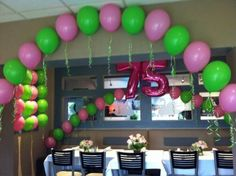 75th Birthday Party Decorations Parties 33rd Kids Themes Mom