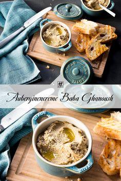 Im arabischen Raum, vor allem in den Ländern der Levante, gehört die Auberginencreme zu jeder Mezze-Platte, eine Art Vorspeisenplatte, dazu. #aubergine #dip #aufstrick #auberginencreme #tahin #kreuzkümmel #kümmel #zitronensaft #rezept #vorspeise #mixer Dessert, Mixer, Dips, Breakfast, Food, Spanish Tapas, Twin, Souffle Dish, Treats