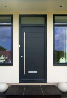 We offer a wide range of bespoke aluminium & wooden front & entrance doors! Highly secure & collection of funky designs available. Door Design, House Design, Bedroom Cupboard Designs, Entrance Doors, Front Doors, Door Makeover, Door Curtains, Types Of Doors, Diy Door