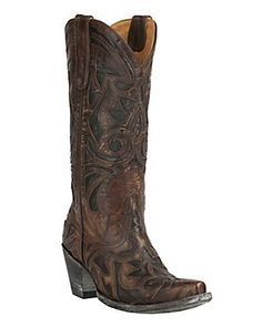 In my dreams...  Old Gringo Womens The Greeks Brass with Chocolate Inlay Snip Toe Western Boots