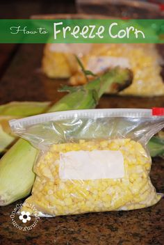 From the Cob to the Freezer--Simple Directions for How to Freeze Corn {OneCreativeMommy.com} #freezecorn
