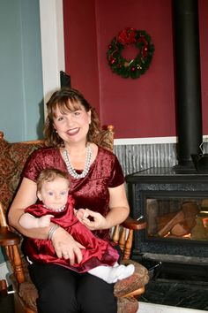 Grandma & Me Holiday Fashion.  Mommy & Me Fashion.  Holiday Dress for Babies.  Velvet Tops for the Holidays