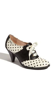 rockabilly heeled saddle shoes. I would actually learn how to walk in heels so I could wear these