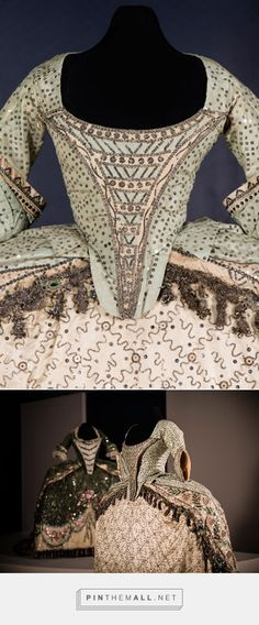 """Court dress, 18th century From the exhibition """"Hilos de Historia"""" at El Museo Nacional de Historia... - a grouped images picture - Pin Them All"""