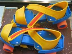 "Fisher Price roller skates - just like the ones that I got for my son when he was really little. ""Thanks, Fisher Price. 90s Childhood, My Childhood Memories, Sweet Memories, Family Memories, Brinquedos Fisher Price, Toy History, British History, Jouets Fisher Price, Oldschool"