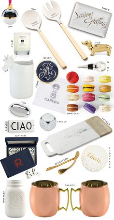 #Gift Guide for the Host / hostess Love these ideas! They're so chic - definitely for the glamorous modern party hostess. Home Decor and Accessories Presents for Christmas.