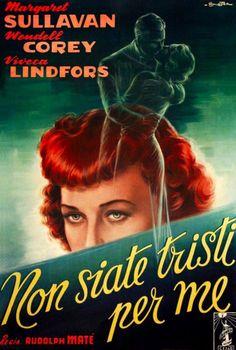 Italian film poster ~ No Sad Songs For Me