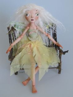 PORCELAIN FAIRY DOLL   handmade jointed doll by Kaeriefaerie52, $195.00
