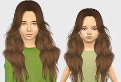 The Sims 4 Mody: LeahLillith Laurie wersja dla dzieci od Fabienne The Sims, Sims Cc, Sims 4 Children, 4 Kids, Kids Girls, Sims 4 Toddler, Toddler Hair, Toddler Stuff, Cute Hairstyles For Kids