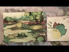 Alcohol Ink: Painting a Landscape - YouTube