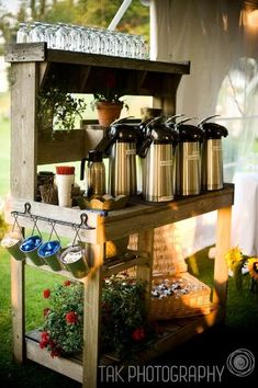 COFFEE BAR. Great idea... Maybe hot chocolate too? @ Wedding-Day-BlissWedding-Day-Bliss