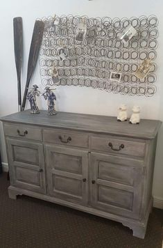 Annie Sloan Chalk Paint® Paris Grey, Graphite and soft wax. By Junk Dog˜Salvage facebook & instagram & snapchat #anniesloanpaintedfurniture