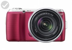 Sony Alpha NEX-C3 16 MP Compact Interchangeable Lens Digital Camera Kit with 18-55mm Zoom Lens (Pink) - Photo stuff (*Amazon Partner-Link)