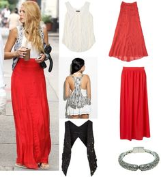 maxi skirt. my obsession with Blake Lively worries me sometimes.