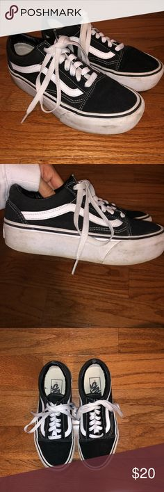 9b7394e2730 Vans Old Skool Platform Used Vans with marks