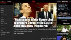 """""""Obama asks White House chef   to prepare Čevap, while Sasha   can't stay away from Burek"""" - bosniannews.tumblr.com"""