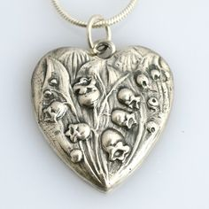Lily of the Valley Silver Heart necklace