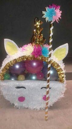 Great as a centerpiece Birthday Pinata, Unicorn Birthday Parties, First Birthday Parties, Unicorn Pinata, Unicorn Party, Balloon Decorations, Birthday Party Decorations, Happy Party, Party Time