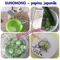 Para quem pediu está aí a receita do SUNOMONO aquele pepino em conserva japonês…