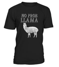 Do you love barns, zoos, farms and pets? This funny novelty graphic T shirt is for folks that loves llamas. Llama pun tee shirt for No Problema spanish translation. Get if you love traveling mexico and other latin countries. Wear on your next family trip. Get for dad, mom, son, daughter, sister, brother, father, mother, uncle, aunt, cousin, inlaws, grandparents, for a birthday gift. Great Christmas, honeymoon, or wedding day present. An excellent ice breaker on a date, reunion, ca...