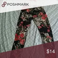 Floral Leggings Floral leggings 92%polyester 8% Spandex 1/2 X super soft shosho Pants Leggings