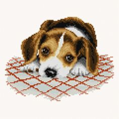 Puppy preview - free cross stitch pattern pinned separately