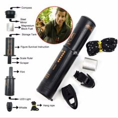 New 10-in-1 survival tool camping #hiking emergency compass #flint fire #starter,  View more on the LINK: 	http://www.zeppy.io/product/gb/2/401087068039/