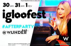 Préparez-vous à faire la fête avec nous! #igloofest #afterparty @Wunderbar MTL @Wmontreal #nightlife #montreal #winter  Réservation: 514 395 3195