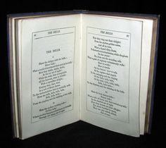 1860's Rare Victorian Book - The Poetical Works of Edgar Allan Poe. Ed – MFLIBRA - Antique Books