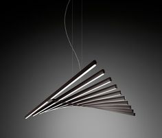 lamp Rhythm black and stripes | lighting . Beleuchtung . luminaires | Design: Arik Levi for Vibia |