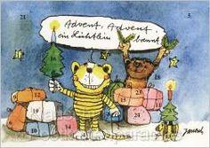 Janosch Adventskalender Janosch mit Bär und Tiger für die Adventszeit