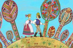 Vajon mennyire emlékszel a legismertebb népmesékből? Aesthetic Images, My Heritage, Whimsical Art, Art And Architecture, Folk Art, Coloring Books, Fairy Tales, Art Projects, Techno