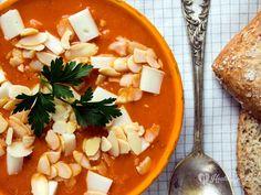 creamy pumpkin-red pepper soup / crema de calabaza y pimiento rojo