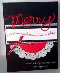 Stampin' Up! Merry Snow Day www.creatingforgrace.com