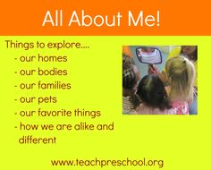 "Exploring ""All About Me"" in Preschool!"