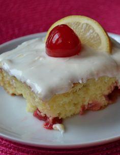 Lemon Cherry Swirl Cake #Recipe