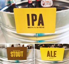Beer tasting beer bucket display