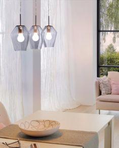 Plafonnier DEL Lustre salon chambre textile éclairage Lampe Pendule pivotante