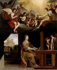 TICMUSart: St. Cecilia - Jacques Stella (1626) (I.M.)
