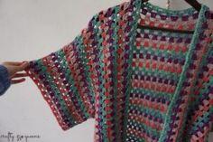 Blouse Au Crochet, Gilet Crochet, Black Crochet Dress, Crochet Cardigan Pattern, Crochet Jacket, Crochet Shawl, Knit Crochet, Crochet Vests, Crochet Afghans