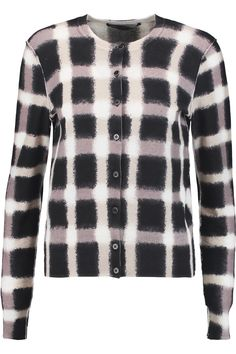 MARC BY MARC JACOBS Blurred Plaid printed cotton cardigan.  #marcbymarcjacobs #cloth #cardigan