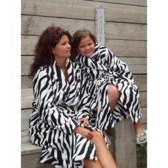 Badjassen met zebraprint
