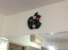 Apple Clock Apple Home, Clock, Home Decor, Watch, Decoration Home, Room Decor, Clocks, Home Interior Design, Home Decoration
