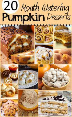 LOVE Pumpkin season! Pinning these pumpkin desserts for later!