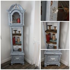 Upcycle Old Grandfather Clock Into Curio Shelf
